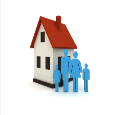 house and family clipart