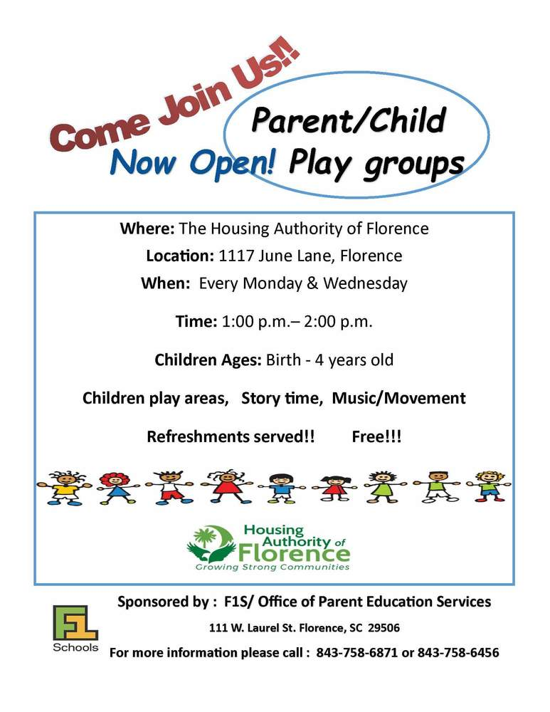 Church Hill Parent child play groups flyer