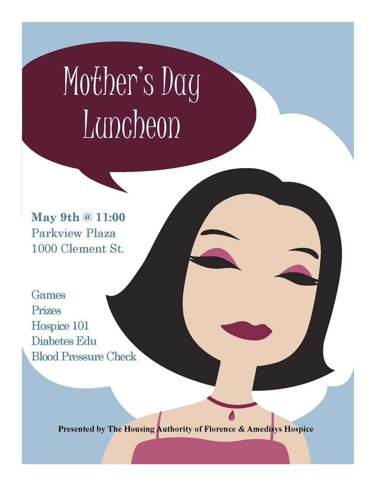 2019 Mothers Day Luncheon flyer