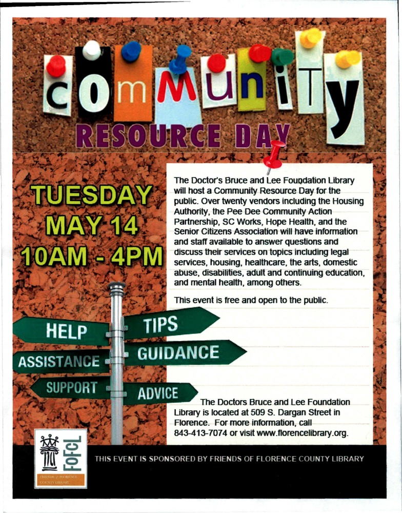 community resource day flyer