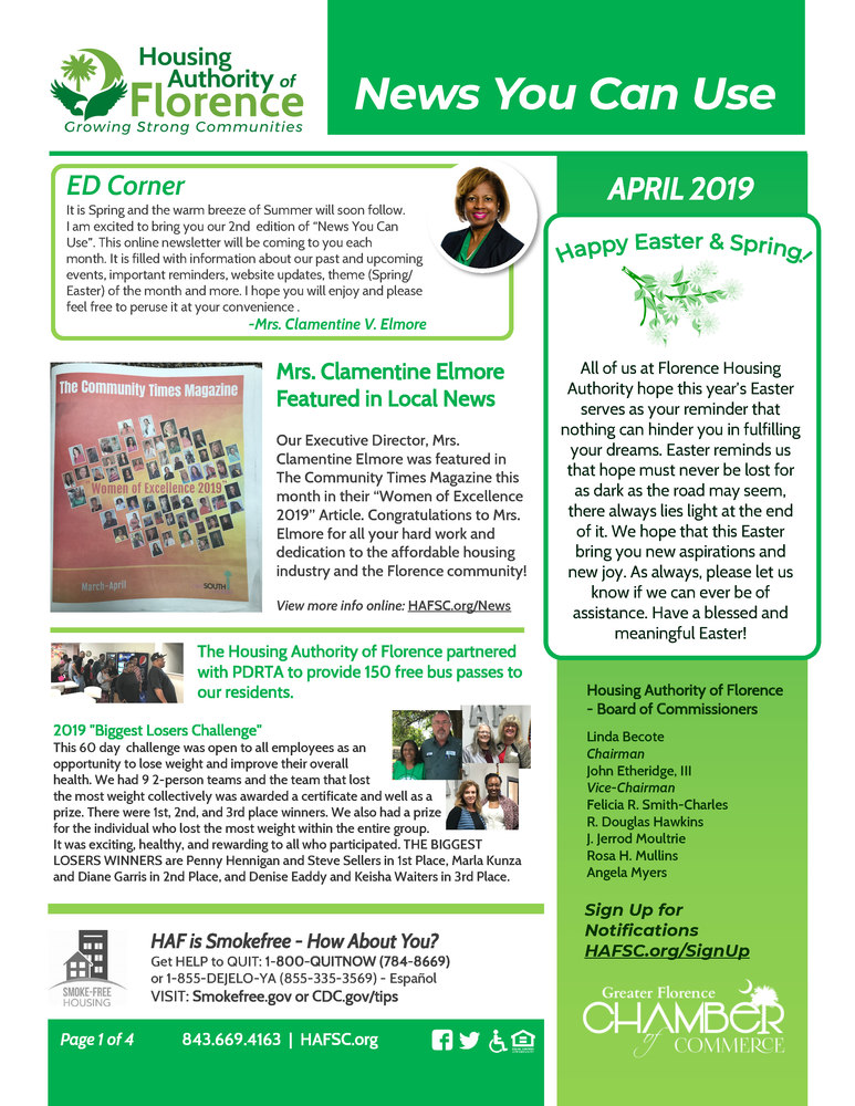 HAF News You Can Use - April 2019