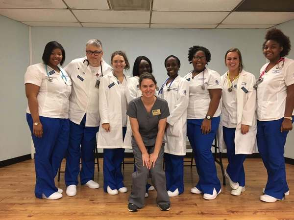 Group photo of nursing students