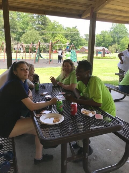 3rd Annual HAF Family Picnic group at picnic table